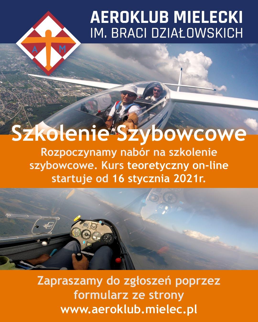 szkolenie szybowcowe podstawowe latanie pasja adrenalina sport
